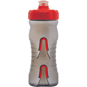 Fabric Cageless Bottle 600ml black/red